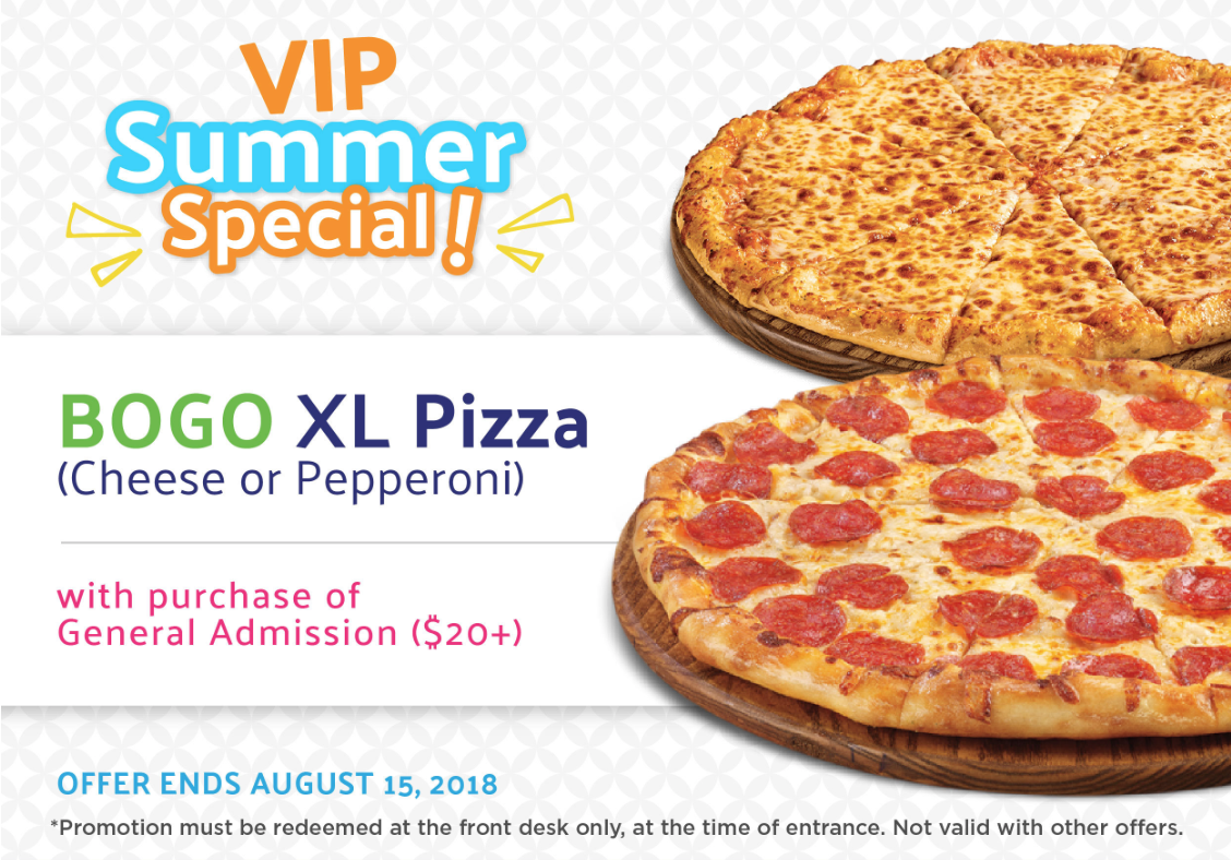 BOGO XL Pizza with purchase of General Admission ($20+) at Jungle Jaks
