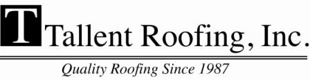 Marvelous Tallent Roofing Inc Logo